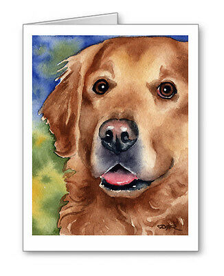 GOLDEN RETRIEVER Set of 10 Note Cards With Envelopes Golden Retriever Note Cards