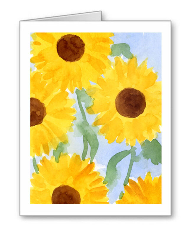 SUNFLOWERS Note Cards With Envelopes