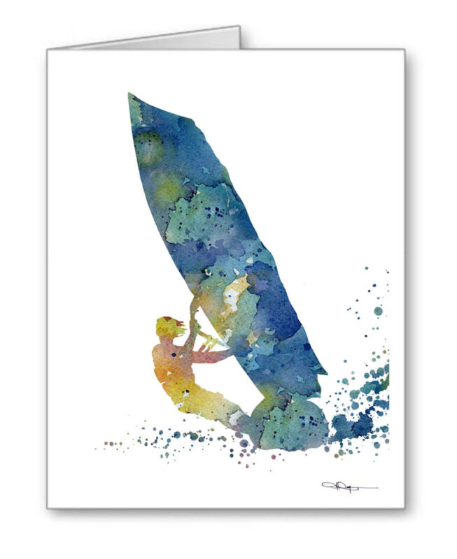 WINDSURFER Note Cards With Envelopes