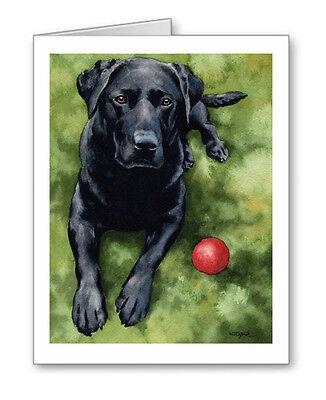 Negro Laboratorio Perro Saludo Nota Fiesta Invite Gracias Cumpleaños Bodas Cards