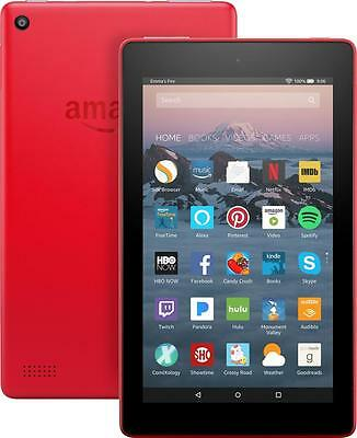 Amazon---Fire-7---7----Tablet---8GB-7th-Generation--2017-Release---Punch-Red