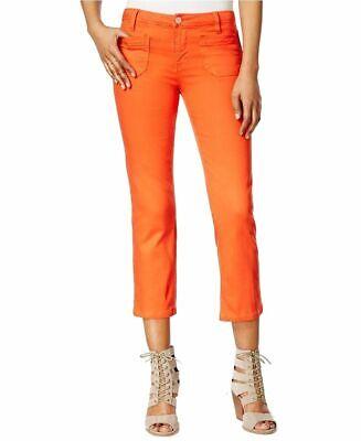 Sanctuary Womens Cropped Four-Pocket Stretch Denim Jeans 26 Poppy Orange -