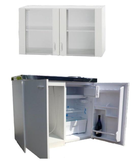 Singleküche mit Glasoberschrank Kühlschrank Herd | eBay | {Pantryküche mit kühlschrank 18}