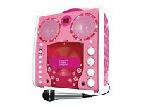 Singing KARAOKE Machine Portable CD-G Karaoke Player and 3 CDGs Party Pack - Pink