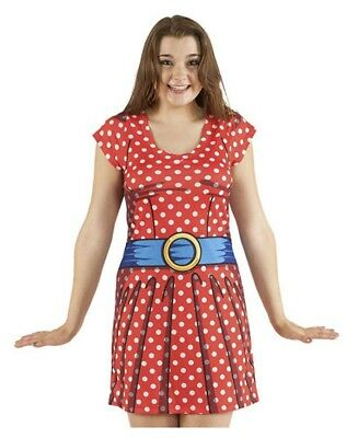 Faux Real Womens Red Cartoon Polka Dot Dress Halloween Costume Minnie Size - Polka Dotted Dress Halloween Costume