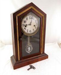 Antique Cameo Pendulum Mantel Chime Clock