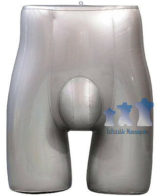 Inflatable Mannequin Male Brief Form Silver