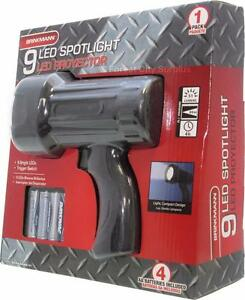 RUGGED 275 FT RANGE LED SPOTLIGHT - IDEAL FOR CAMPING, BOATING AND EMERGENCIES - AMAZING SURPLUS PRICE !!