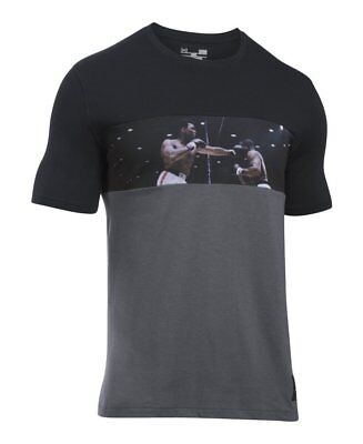 Men's Under Armour Ali Lights Out Tee, Black/Carbon Heather, S-R (Small)