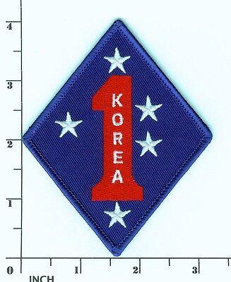 USMC 1st Marine Division KOREA 1st MarDiv 4-inch PATCH Korean War Vets ! Marines ()