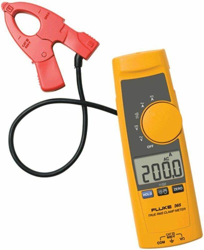Fluke 365 Detachable Jaw True RMS AC/DC Clamp Meter, 200 A