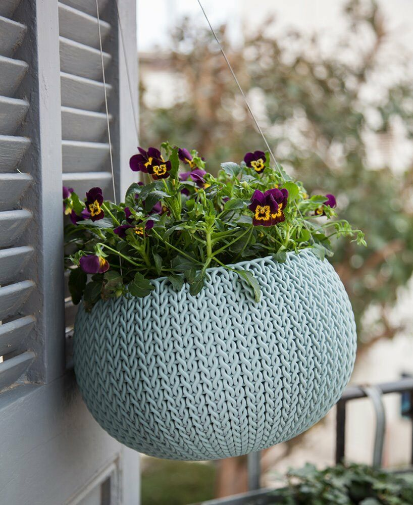 Keter Knit Cozies Hanging Baskets Plant Pot Planters