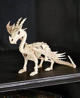Skeleton For Halloween (Dragon Skeleton Animal Figurine - Halloween Decoration for Shelves,)