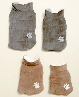 CORDUROY PET BERBER  DOG VEST JACKET COAT Embroidered Paw Print MISC SIZES Berber Embroidered Jacket