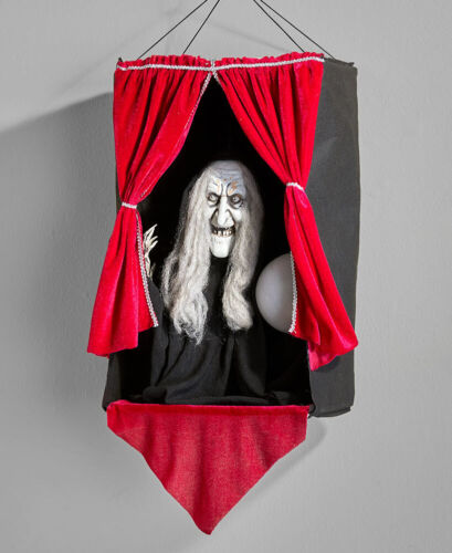 Halloween Creepy Hag Witch ANIMATED FORTUNE TELLER PROP New