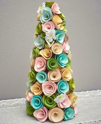 EASTER SPRING WOOD CURL HOLIDAY TREE TABLE MANTEL CENTERPIECE HOME DECOR ()