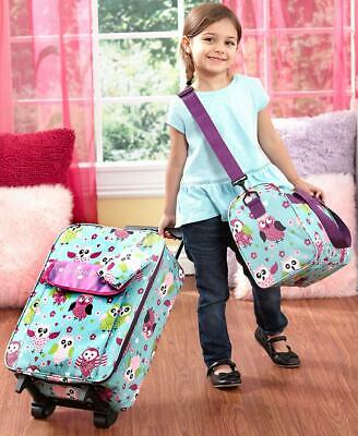 3 PC Kids Travel Rolling Luggage Suitcase Duffel Tote & Clutch Sets Boys & Girls - Kids Rolling Luggage