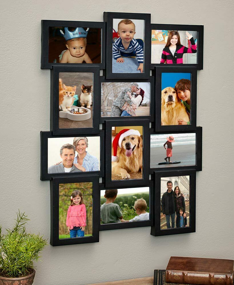 12 PICTURE COLLAGE MULTI-PHOTO WALL FRAME DISPLAY HORIZONTAL