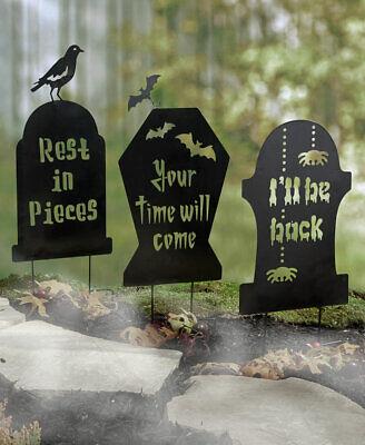 stein Metall Silhouette Schatten Halloween Hof Heringe (Scary Halloween-hof)