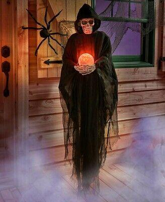 LIFE SIZE HALLOWEEN GRIM REAPER CREATURE PROP NEW IN - Grim Reaper Halloween Props