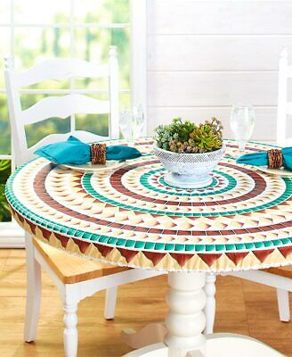 Wood Table Cover (Custom Fit ROUND or OVAL Elastic Table Cover 48
