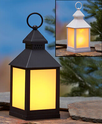 FLICKERING FLAME LANTERN LIGHT Balcony Deck Porch Patio Art Hanging or Table - Table Top Flame Light