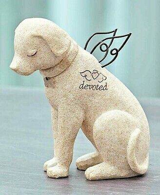 Faithful Angel Pet Memorial Dog Figurine Statue Shelf Home Decor Grave Marker