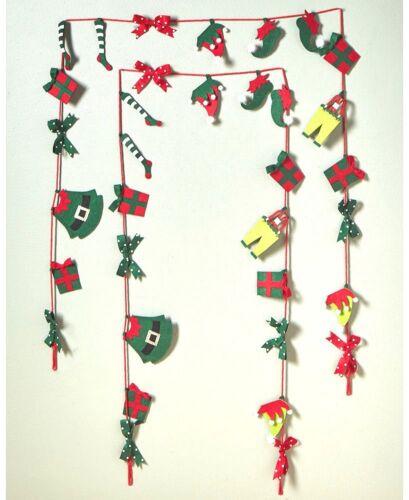 Christmas Santa Elf Laundry Clothes Mantel Garland Set of 1 or 2 Strands 9 Feet