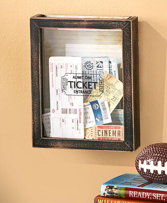 (TICKET MEMENTO SHADOW BOX STORAGE Concert Travel Sport Memory Display Christmas)