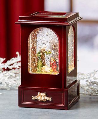 Nostalgic Light and Motion Nativity Scene Christmas Cabinet Snow Globe Keepsake (Christmas Snow Scenes)