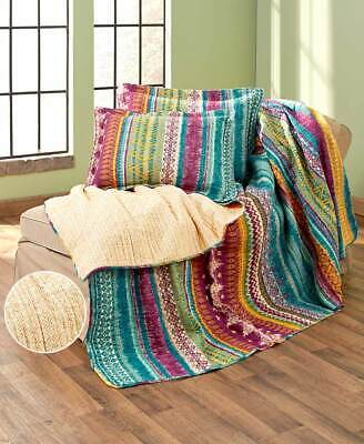 Southwest Themed Quilts or Shams Reversible American Desert 3-Pc Set Discount