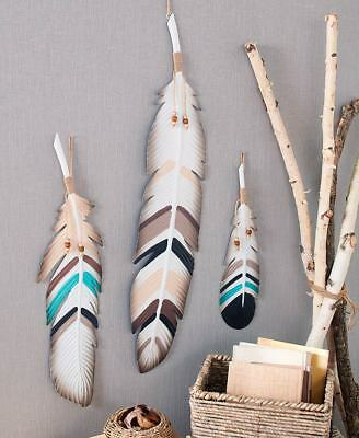 3-Pc. Metal Feather Wall Decor -](Metal Decorations)