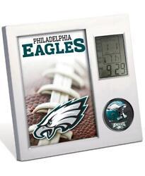 NFL PHILADELPHIA EAGLES FOOTBALL TEAM DIGITAL DESK CLOCK ALARM TEMP FAN GIFT
