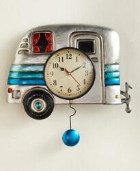 RETRO VINTAGE Look CAMPER Pendulum Wall Clock Reloj Housewarming Gift