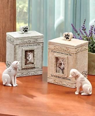 Faithful ANGEL PET CAT DOG MEMORIAL FIGURE PHOTO PICTURE CREMATION URN Heart - Angel Dog