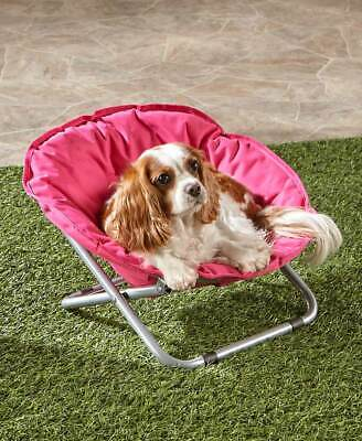 - Foldable Indoor Outdoor Pet Bed Dog Cat Smaller Breeds Chair Blue Gray or Pink