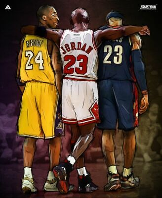 MICHAEL JORDAN LEBRON KOBE POSTER NBA Basketball Sports Poster 24 x 32 inch NEW