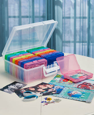 Photo Storage Box for 1600 Pictures Organizer Acid-Free Cases Keeper Pics Acid Free Photo Storage Boxes