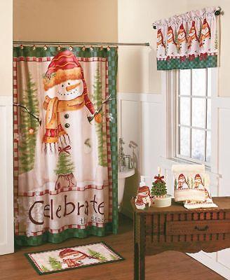 🌟19-pc Snowman Festive Holiday Seasonal Bathroom Collect.Bath Accessory Sets.](Snowman Bathroom Sets)