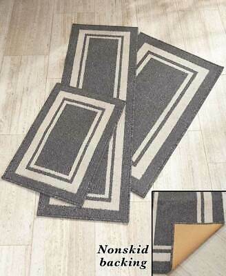 NONSLIP FLOOR RUG or RUNNER W/ LATEX BACKING NONSKID CARPET - 3 SIZES & 3 COLORS - Runner Floor