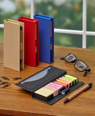 Sticky Memo Notebook Organizers With Pens - Set Of 4