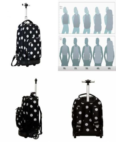 Rockland Luggage 19 Inch Rolling Backpack Printed, Black Dot