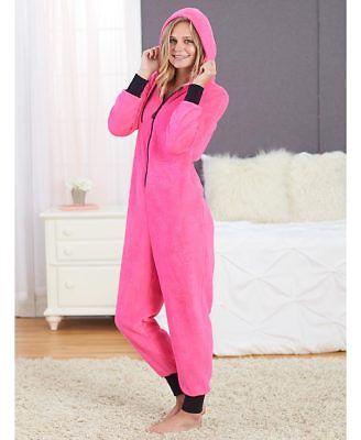 - Super Soft Pink Cozy Coveralls Blanket Sleeper One Piece Pajamas Women XL 18/20