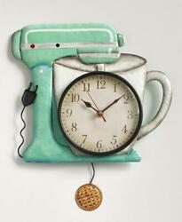 RETRO VINTAGE Look Mixer Pendulum Wall Clock Reloj Housewarming Gift Home Decor