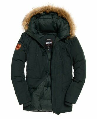 """New Superdry Rookie Down Parka Jacket Deep Forest Size: S 36"""" (91cm) RRP £179.99"""