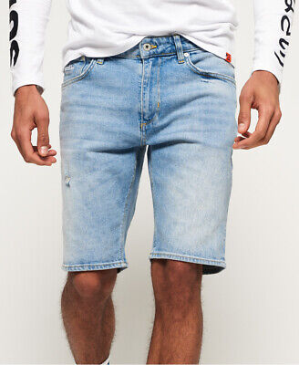 Superdry Mens Slim Denim Shorts