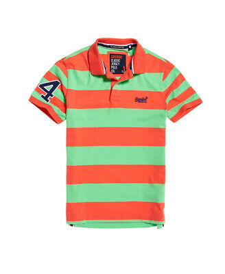 Superdry Mens Louder Stripe Short Sleeve Polo Shirt