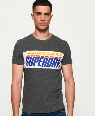 Superdry Mens Triple Drop Pop Panel T-Shirt