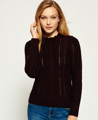 Superdry Womens Ryder Cable Knit Jumper