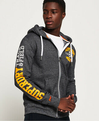Superdry Mens Track And Field Zip Hoodie